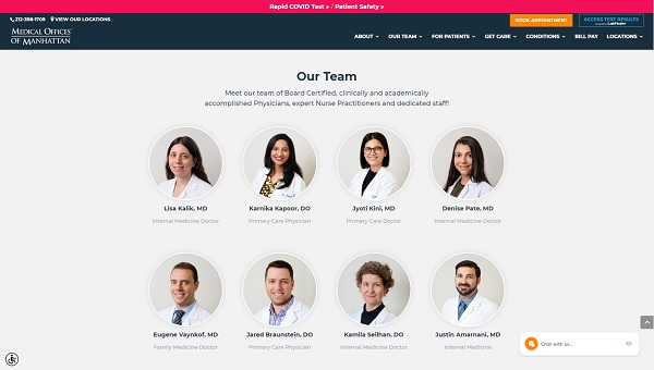 طراحی سایت پزشکی با نمایش و معرفی سوابق و رزومه پزشک های مطب