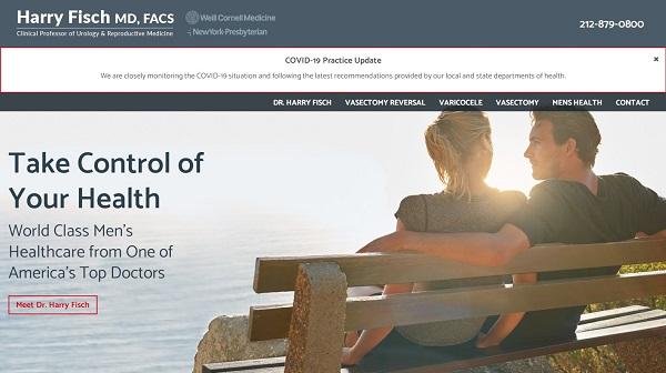 طراحی سایت پزشکی همراه با نمایش گالری تصاویر از امکانات مطب و نویت دهی آنلاین در سایت پزشکی
