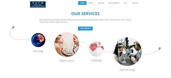 طراحی سایت پزشکی ساده اما بسیار تاثیرگذار همراه با نوبت دهی آنلاین و معرفی خدمات پزشکی مطب